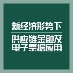 新经济形式下供应链金融及电子票据应用
